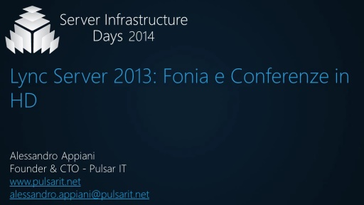 Lync Server 2013: Fonia e Conferenze in HD - CP02