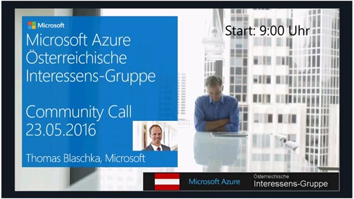 Azure Community Call - Mai 2016