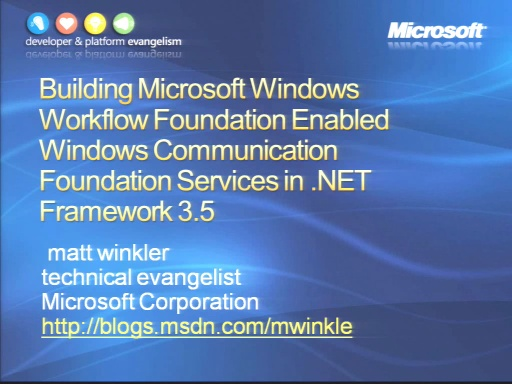 VS2008 Training Kit: Building Microsoft Windows Workflow Foundation Enabled Windows Communication Fo
