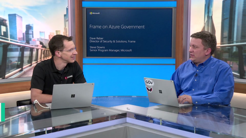 VDI with Frame on Azure Government