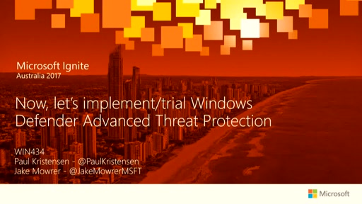 Now, lets implement/trial Windows Defender Advanced Threat Protection.