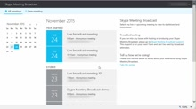 How to publish a Skype Meeting Broadcast recording and run reports