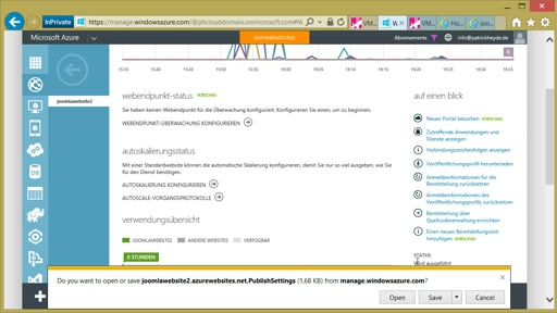 03 | Joomla as a Service – Bereitstellung in Azure Websites und Datenbank als Service - Video 3