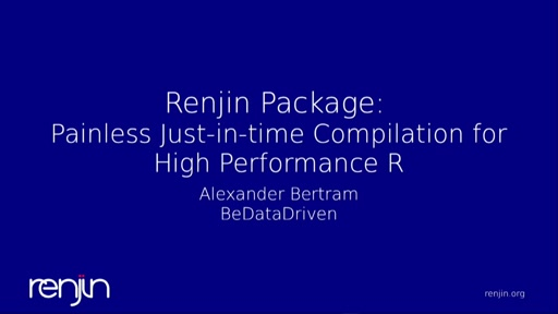 The **renjin** package: Painless Just-in-time Compilation for High Performance R