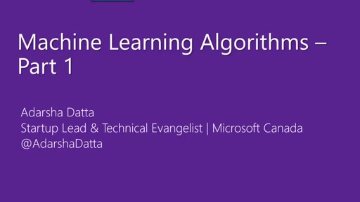 Azure Machine Learning Algorithms – Part 1