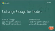 Exchange storage for insiders
