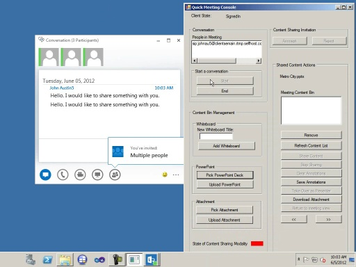Lync 2013: Content Sharing: File attachments