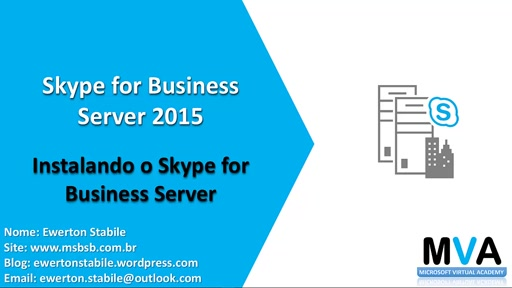 Instalando o Skype for Business Server