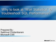 """Why to look at """"Wait Statistics"""" to troubleshoot SQL Performance"""