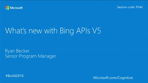 What's New with Bing APIs v5