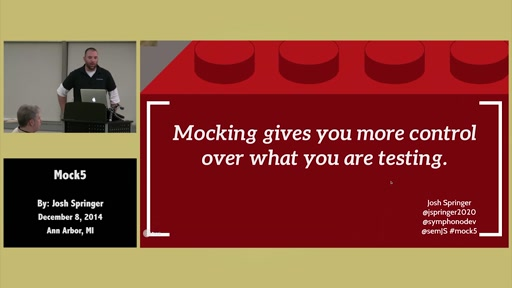 Mock5 - JavaScript Mocking - Unit Testing by Josh Springer