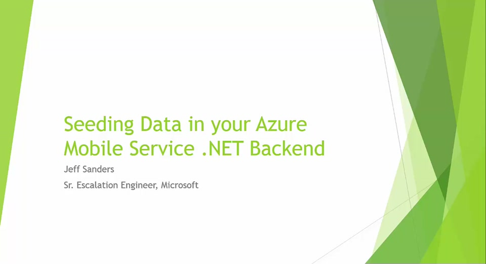 Seeding Data in your Azure Mobile Service .NET Backend