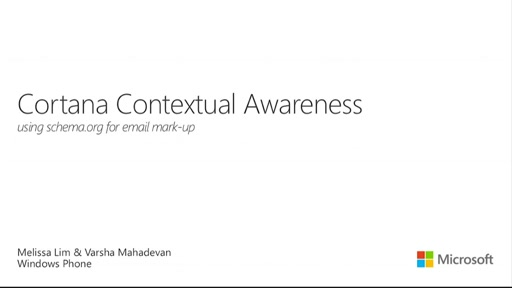 Cortana Contextual Awareness