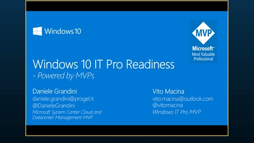 Windows 10 IT Pro Readiness [Italy]