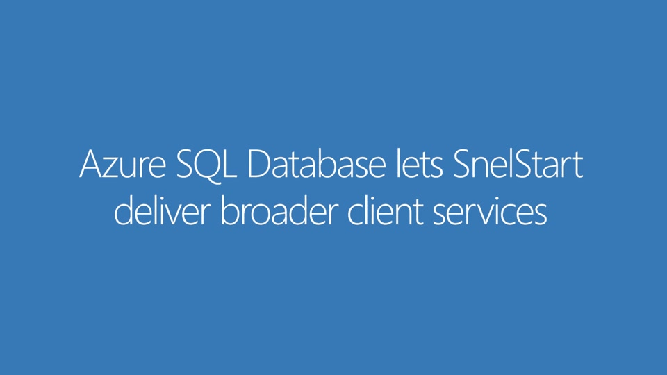 Azure SQL Database Case Study - SnelStart