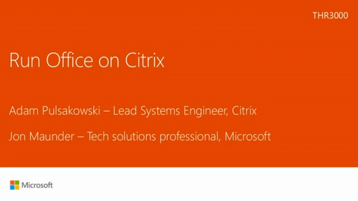 No Change-Run Microsoft Office on Citrix
