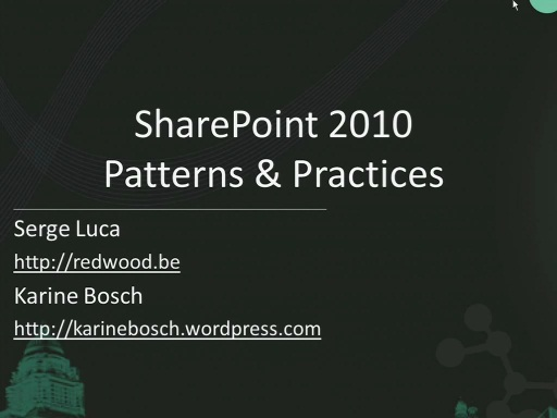 SharePoint 2010 Patterns and Best Practices
