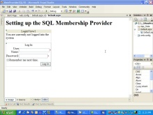 [How Do I:] Set Up the SQL Membership Provider
