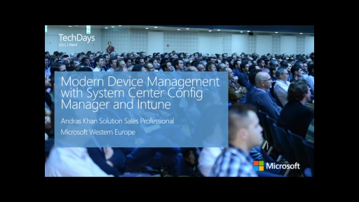 Modern Device Management with System Center Config Manager and Intune (e)