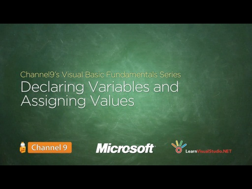 Declaring Variables and Assigning Values - 05