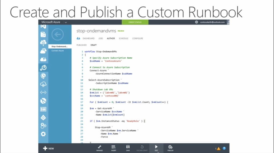 (Module 4) Creating and Publishing Your First Runbook