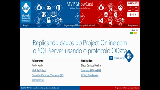 Replicando dados do Project Online com o SQL Server usando o protocolo OData