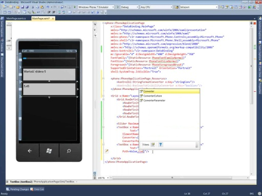 Kurs Windows Phone 7 - Część 3 - Data Binding
