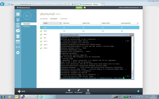 Tutorial - Postfix-Mailserver auf Windows Azure - Teil 4/5 Konfiguration von Postfix