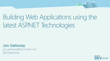 Building Web Applications Using the Latest ASP.NET Technologies