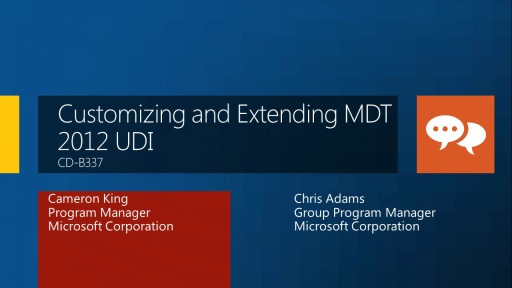 Microsoft Deployment Toolkit 2012 UDI: Deploying Windows and Customizing the End User Deployment Experience