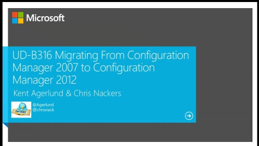 Migrating From Configuration Manager 2007 to Configuration Manager 2012