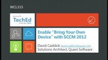 "Enable ""Bring Your Own Device"" with SCCM 2012"
