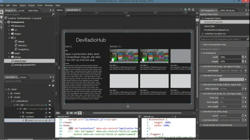Microsoft DevRadio: Developing for Windows 8 in 1/2 the Time – Getting Started with Blend