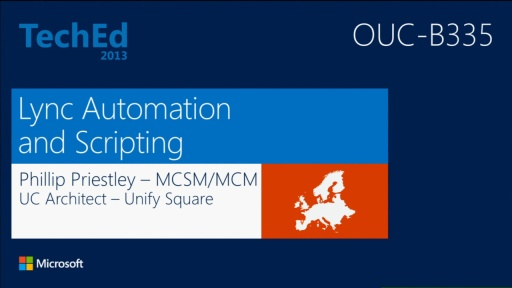 Scripting and Automation for Microsoft Lync