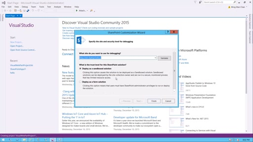 Create SharePoint Visual Web Part for Office 365 SharePoint