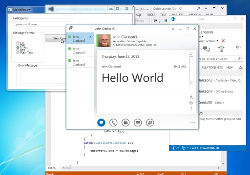 Lync 2013: Add formatting to IM text (short version)
