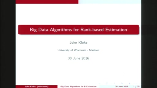 Big data algorithms for rank-based estimation