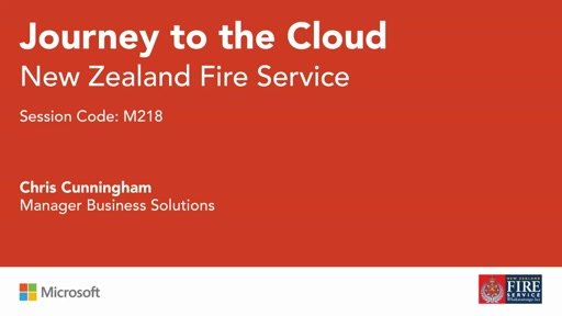The NZ Fire Service Journey to the Cloud