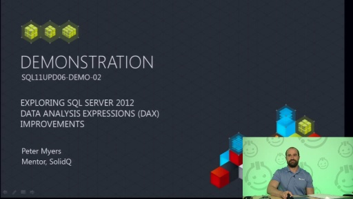 Demo: Exploring SQL Server 2012 Analysis Services DAX Improvements