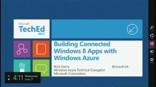 Building Connected Windows 8 Apps with Windows Azure
