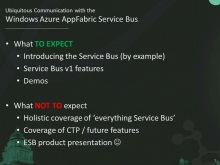 Ubiquitous Communication with the Windows Azure AppFabric Service Bus