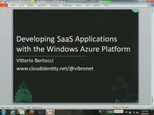 Developing SaaS Solutions with the Windows Azure Platform
