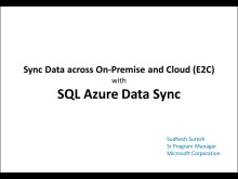 SQL Azure Data Sync- Synchronize Data across On-Premise and Cloud (E2C)