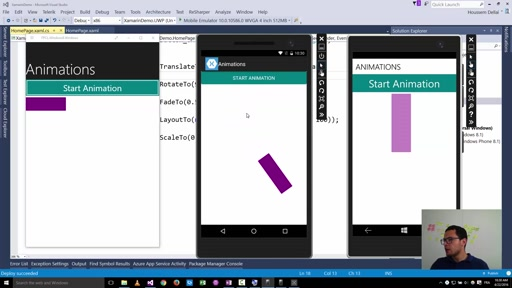 Using Animations with Xamarin Forms