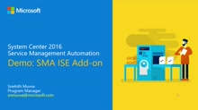 Demo: PowerShell ISE Add-On for Service Management Automation (SMA)