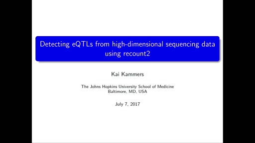 Detecting eQTLs from high-dimensional sequencing data using recount2