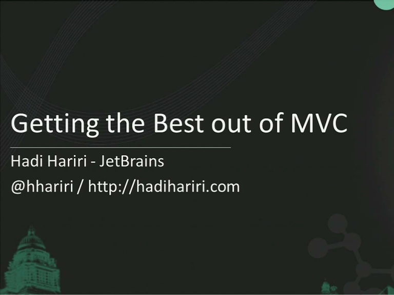 Getting the most out of ASP.NET MVC 3