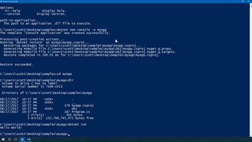 Create a Simple .NET Application on Windows