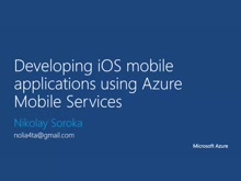 05 | Developing iOS mobile application using Azure Mobile Services
