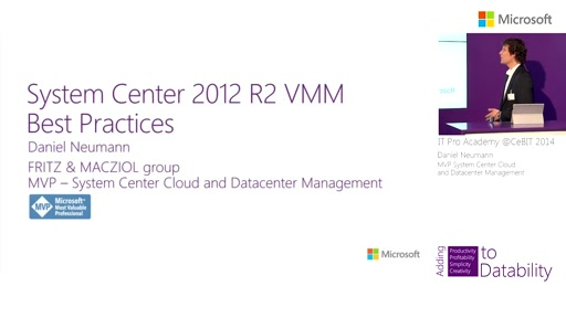 System Center 2012 R2 Virtual Machine Manager - Best Practices